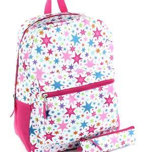 b93a3fb394 Girls Pink Stars Backpack w  Pencil Case Set. 16
